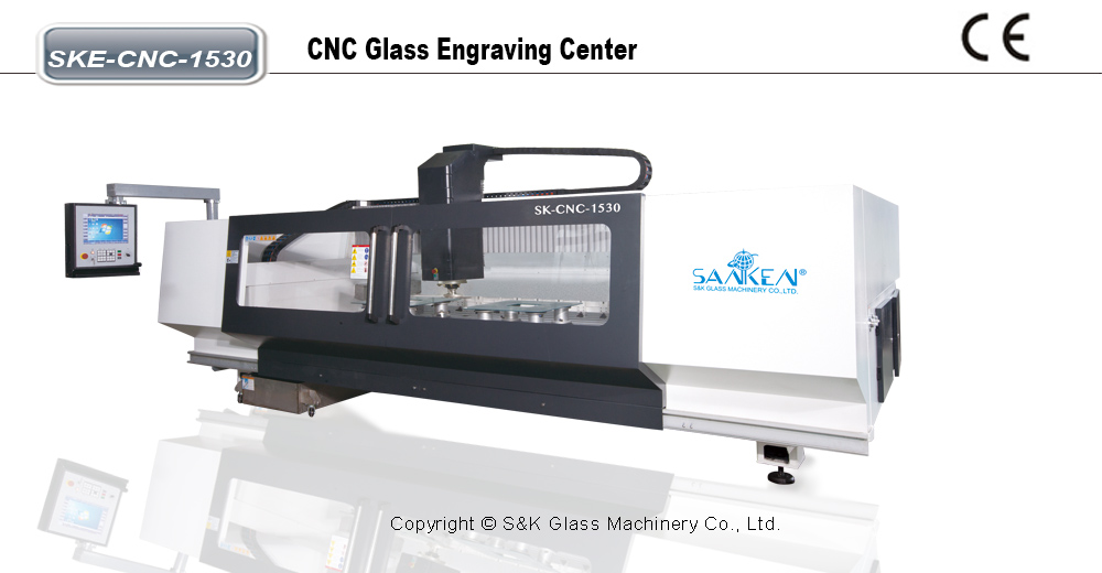 CNC玻璃表面刻花机